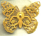 Brass Filigree Butterfly