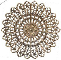 Brass Filigree Circle