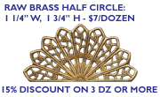 Brass half Circle Filigree