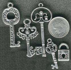 key and lock charms