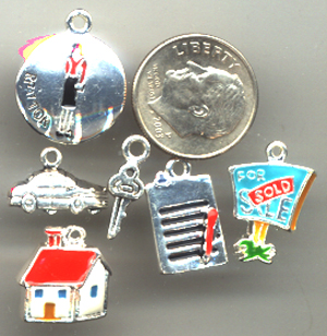 realtor charms, house charms