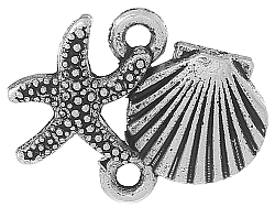 Starfish sea shell connector charm